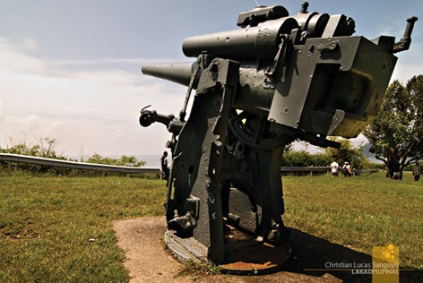 One of the Many Guns Lining up the Hill in Corregidor