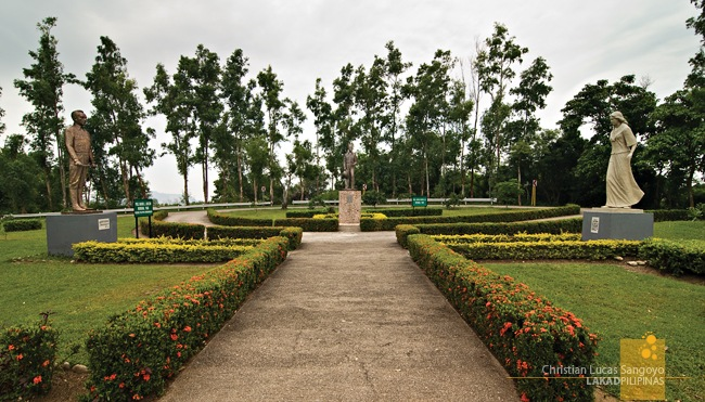 The Manuel Quezon, Sergio Osmena, and Filipino Woman Park in Corregidor