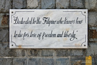 Corregidor Dedication