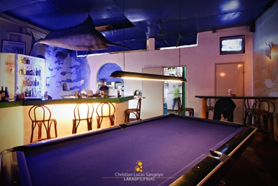 The Bar and Billiard Hall at Bistro Coron