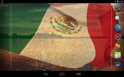 3D Mexico Flag Live Wallpaper