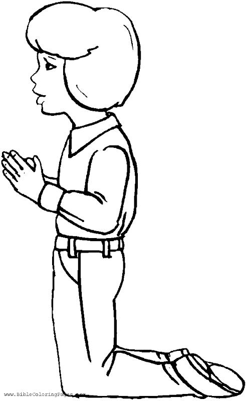 dibujos para colorear de ni u00f1os rezando