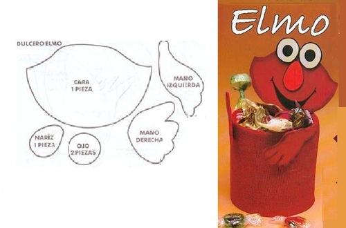 Dibujos Para Colorear De Elmo Bebe: Como Hacer A Elmo En Foami