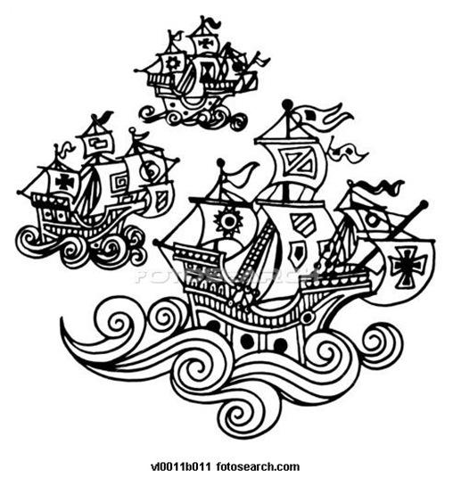 Dibujos De Las Tres Carabelas De Cristobal Colon Para Classy World