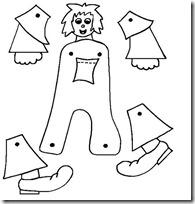 Muñecos Articulados Con Letras Del Abecedario Para Colorear