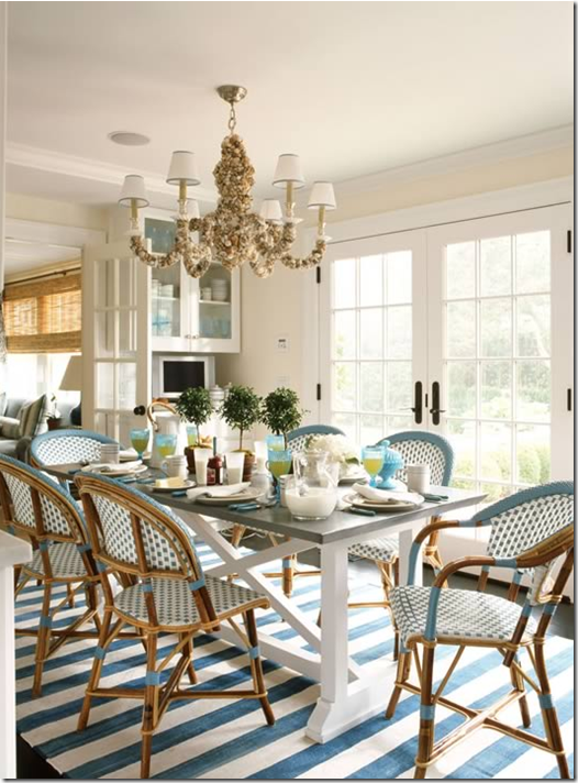image  Ashley Whittaker brought the striped rug. COTE DE TEXAS  Blue   White Striped Rugs