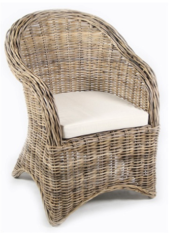 The Most Gorgeous Wicker Chair In The World. Gray Wicker. Itu0027s Color Is  Subtle: Light Brown With A Hint Of A Whitish Gray Paint Covering It.