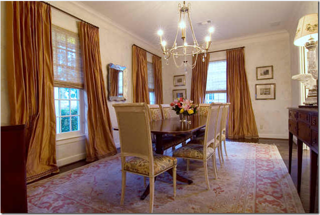 This Dining Room In Houston Was Also Inspired By Gerrie Bremermanns The Panels Were Dressed Up With Tape On Hem Perfect Length Imho