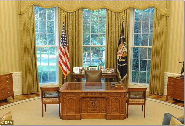 Cote De Texas The Oval Office Before After