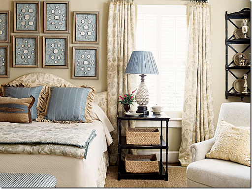One Of The Southern Accentu0027s Prettiest Bedrooms. I Love The Touches Of Blue  U2013 And I Especially The Collection Of Framed Intaglios.