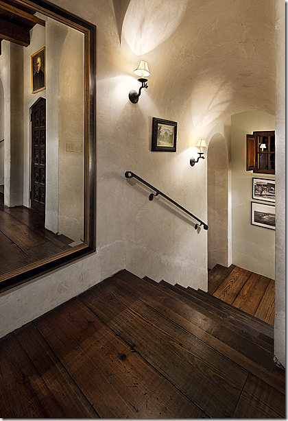 Leading Off The Hall That Runs Through Dining Room Is This Series Of Stairs Detailing So Great Sconces Line Halls Lanterns