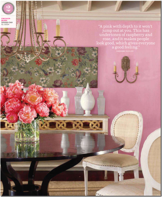 and house beautiful runs this picture of a suzanne kasler dining room yes again jeez how many blogs have shown this picture on pink breast cancer