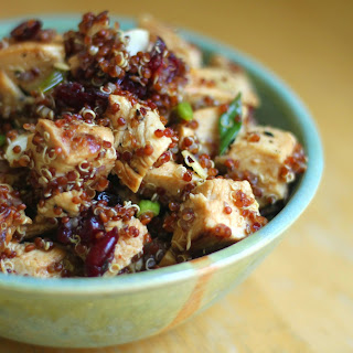 Quinoa Cranberry Almond Grilled Chicken Salad