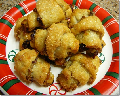 Easy-to-make Orange Cranberry Rugelach