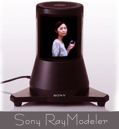 Sony RayModeler  Autostereoscopic Display Prototype 3D without Glasses 360 panorama games avatar videos