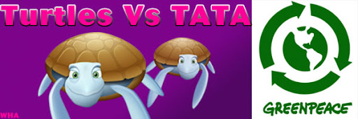 Turtles Vs Tata Greenpeace Game Protest Dharma to Save Turtles