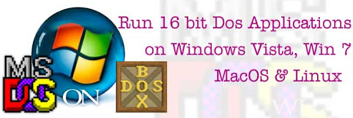 DOSBOX-DBox-Run Dos Programs in Windows Vista windows 7 like Turbo C/C++ games