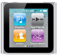Apple iPod nano Features & Specifications, Available at Stores sony dash ipad alternative samsung galaxy tab image voiceover multitouch live fm radio