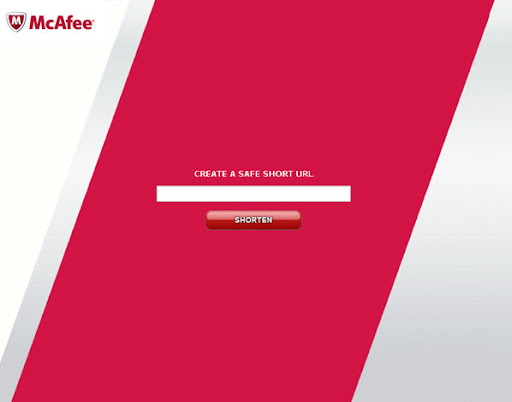 McAf.ee Safe URL shortener From Security Giant McAfee Launched image logo