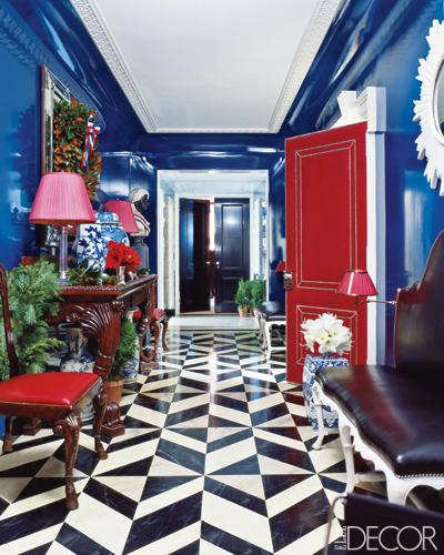 Interia Design: Odi Et Amo: Lacquered Walls: A Maximalist's Dream