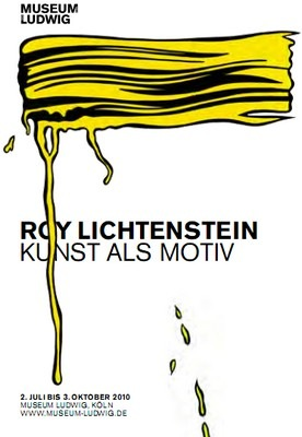 Poster of the exhibition Roy Lichtenstein: Kunst als motiv at Museum Ludwig, Cologne