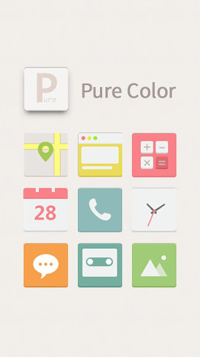 Pure Color Hola Launcher Theme