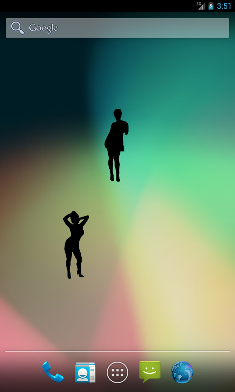 WomenSilhouette (free widget) - screenshot