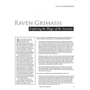 Raven Grimassi Interview Exploring The Magic Of The Ancients Cover