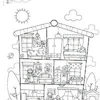Dibujos De Casas Y Partes De Casas Para Colorear