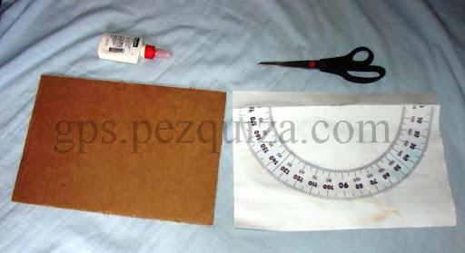 Material para a produção de um inclinometro artesanal