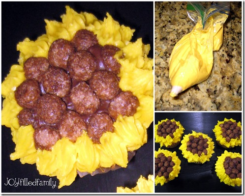 sunflower cupcake design 3