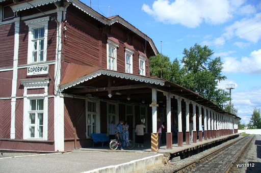 Боровичи. Железно-дорожный вокзал, 1876 г. Borovichi. Railway Station, 1876 photo yuri1812
