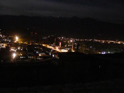 Leh as seen from the Leh Palace