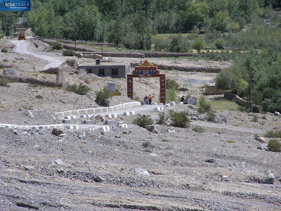 The Entry for the road to Dhankar