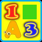 Буквы Цифры Цвета для детей icon