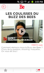 Be - Be.com - Be Magazine Capture d'écran