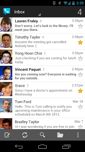 0 Google Voice App screenshot