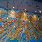 Mixed media mural at La Condesa.