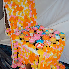 Chair made out of cupcakes!