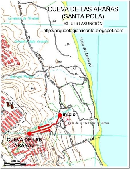 mapa cueva arañas DEFINITIVO