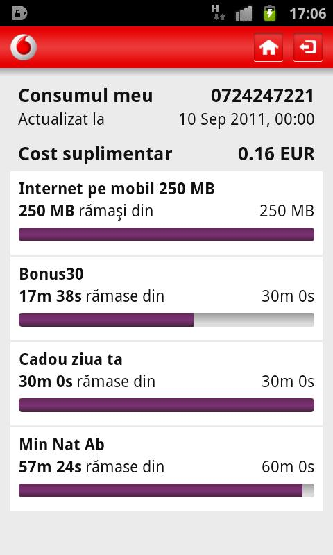 MyVodafone - screenshot