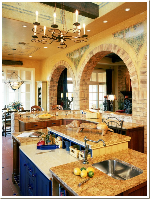 Country Kitchen Flagstone Floor