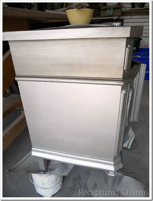 Silver Metallic Night Stands 014a