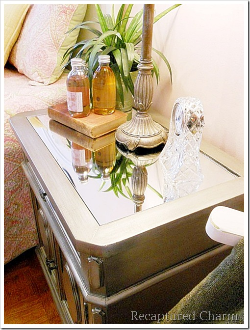 Silver Metallic Night Stands 063a