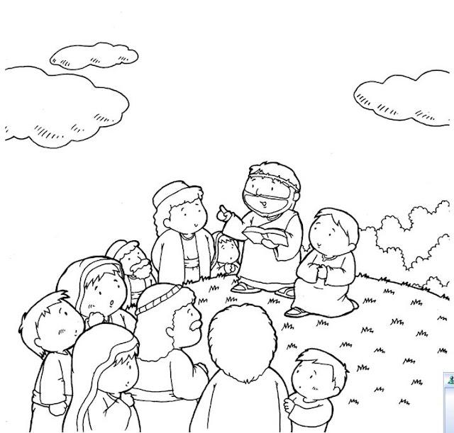 Pintar Dibujos De La Biblia Para Niños