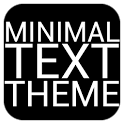 Minimal Text THEME - FREE icon