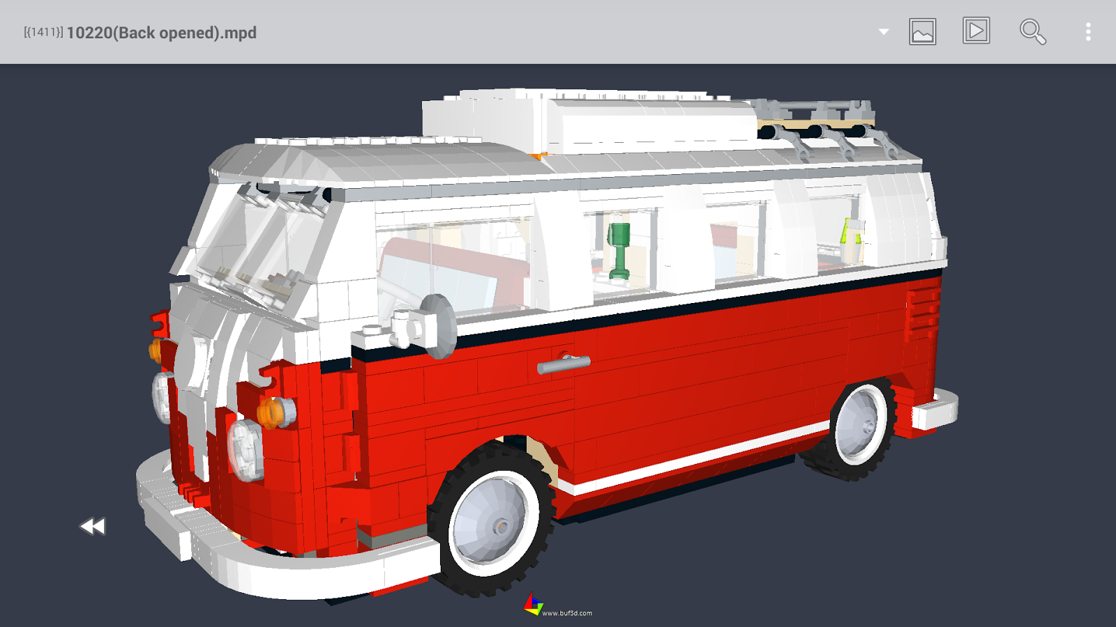 Buf3D 3d and lego model viewer- screenshot