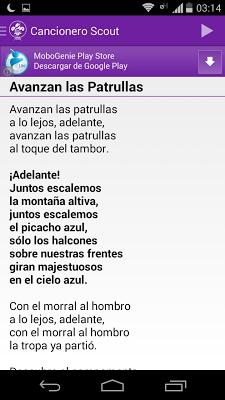 Canciones Scout - screenshot