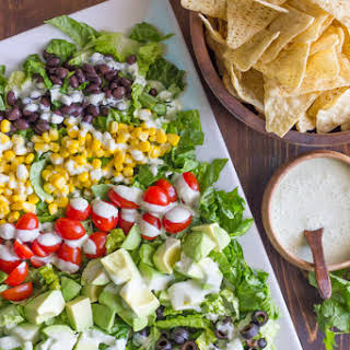 Healthy Chopped Taco Salad.