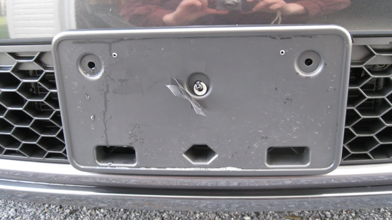 Audi Plate Frame >> VWVortex.com - GTI Front License Plate install (no holes)